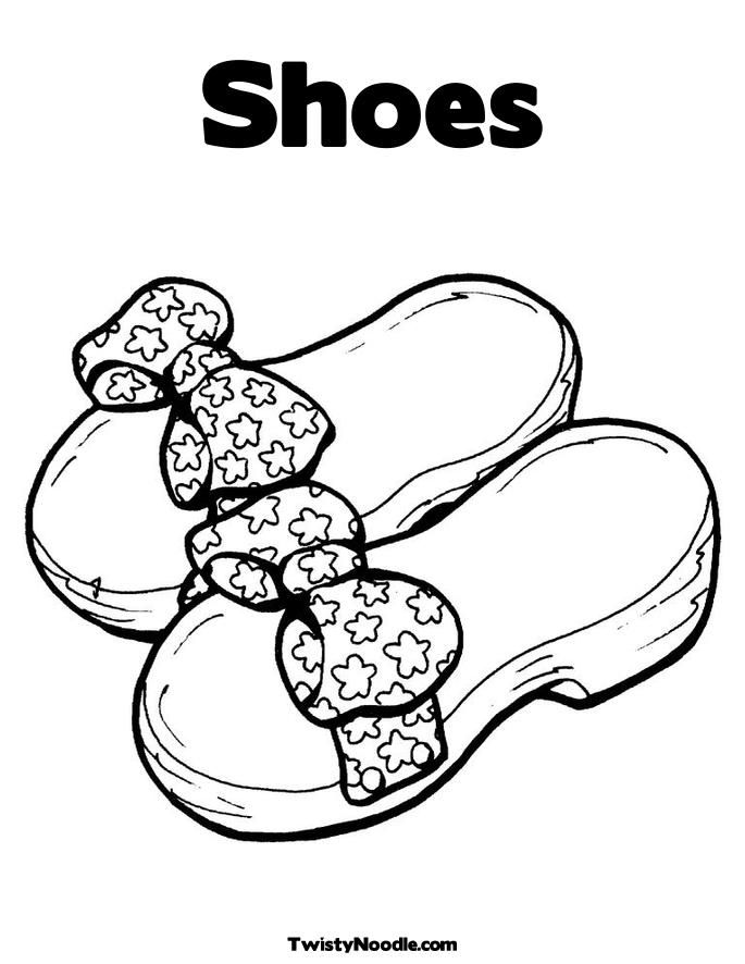 Shoes Coloring Pages | Coloring Pages