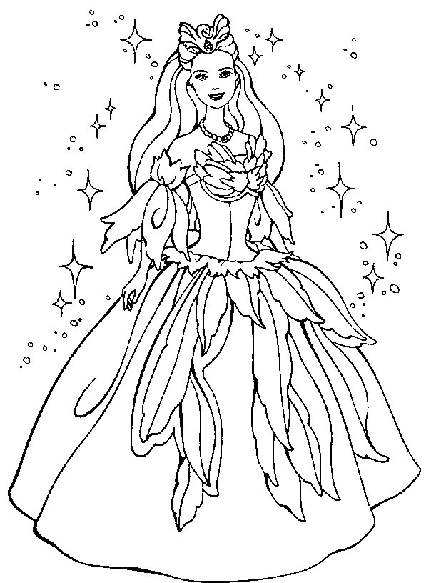Barbie doll coloring pages az coloring pages for Barbie doll coloring pages