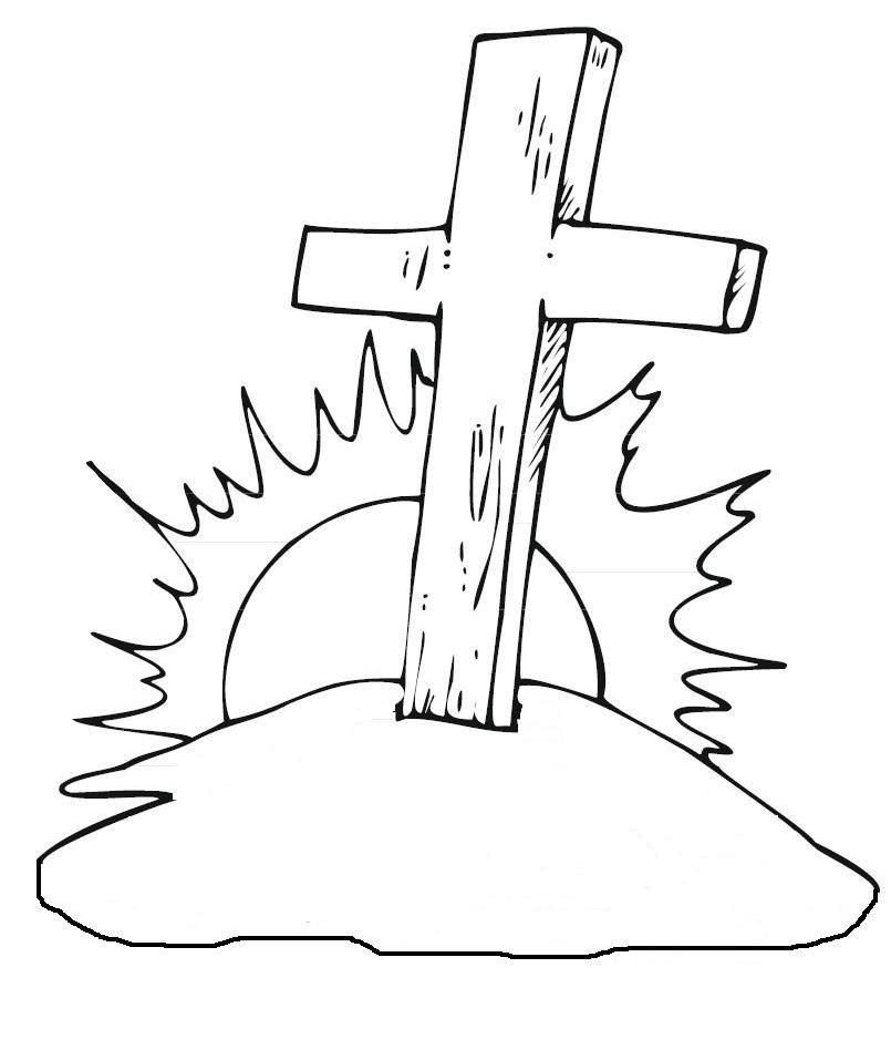 Christian Coloring Pages Pdf : Christian cross coloring page