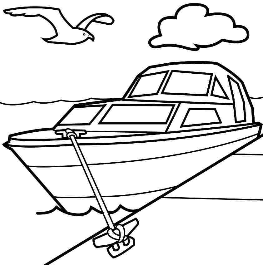 Motor boat coloring pages coloring home for Boat coloring page