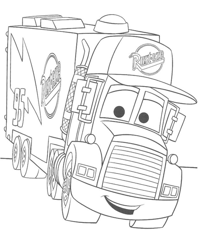 Pixar Truck Coloring Page - Pixar Car Coloring Pages : New Cars ...