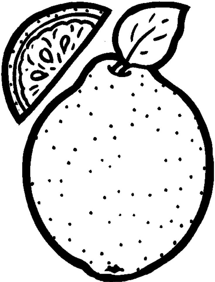 Cute Fruit Pictures AZ Coloring Pages