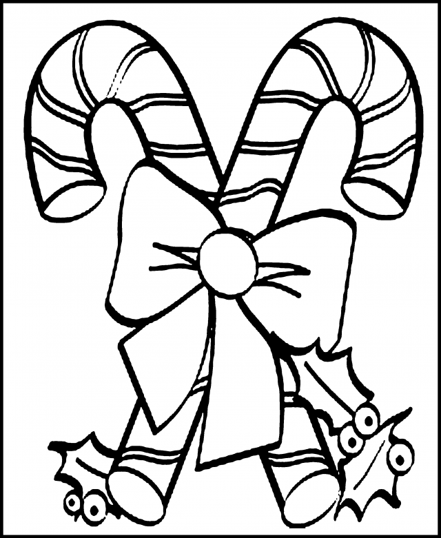 Candy Cane Print Out - Coloring Home