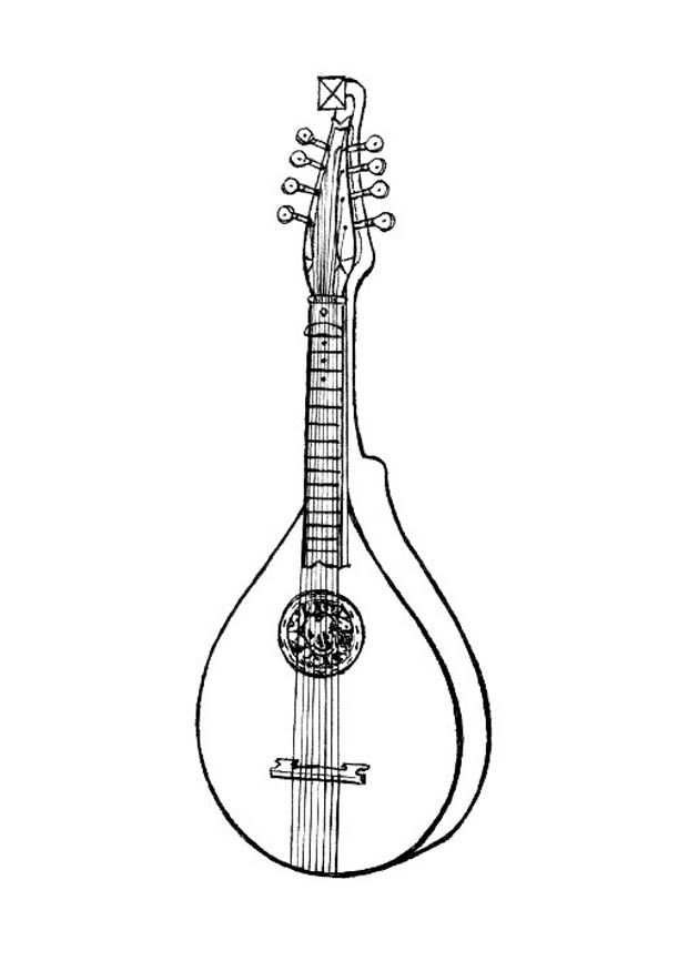 Kids Under 7: Musical-instruments Coloring Pages