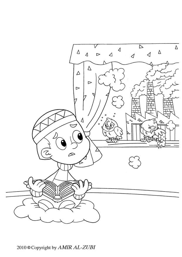 pollution coloring pages - photo#12