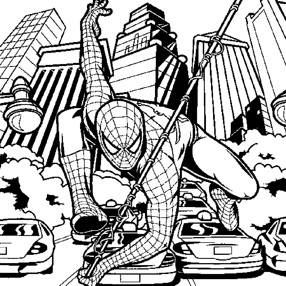 Spiderman And Venom Coloring Pages Free - Coloring Home