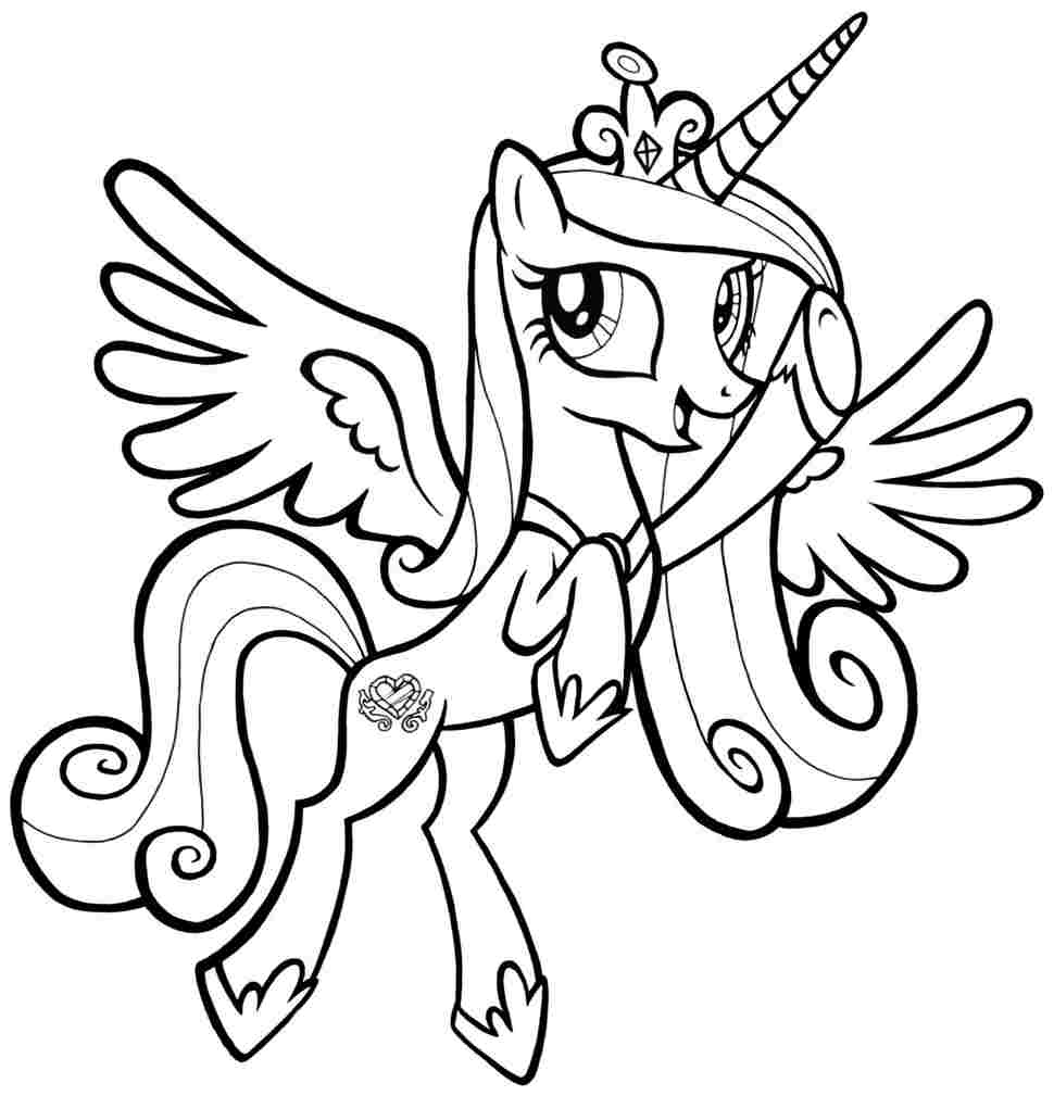 kids pony coloring pages - photo#14