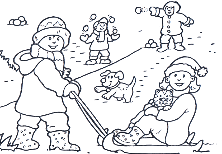 Free Coloring Pages Winter Season Coloring Page Coloring Home