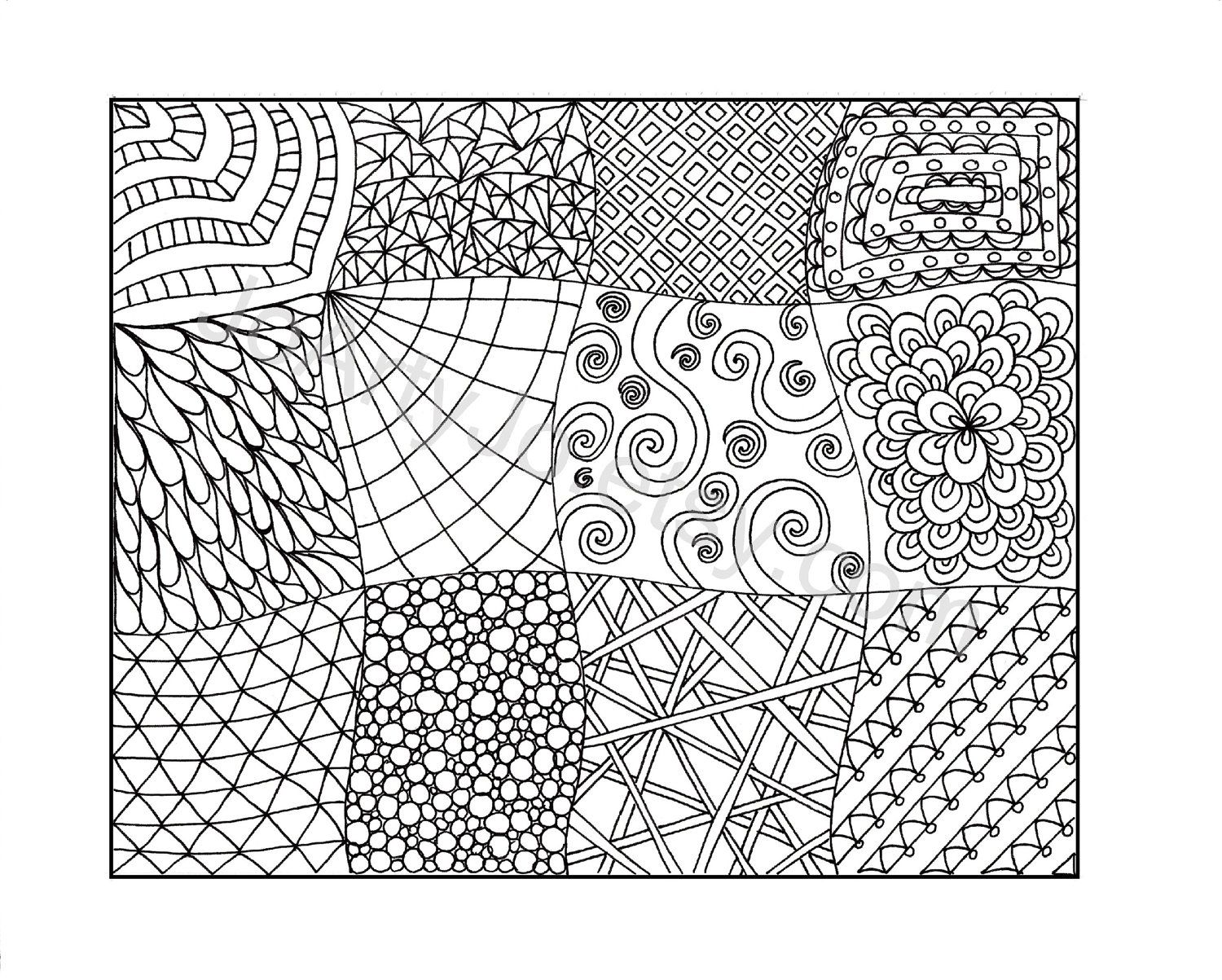 picture relating to Printable Zentangles identify 8 Perfect Shots Of Printable Zentangle Coloring Web pages PDF