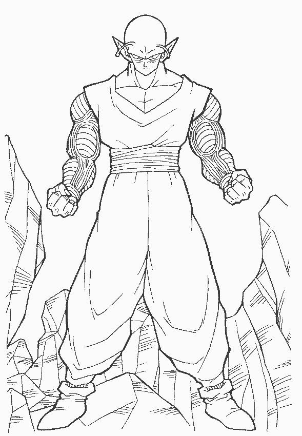Dragon Ball Z Piccolo Ready To Fight | Dragon Ball Z Coloring ...