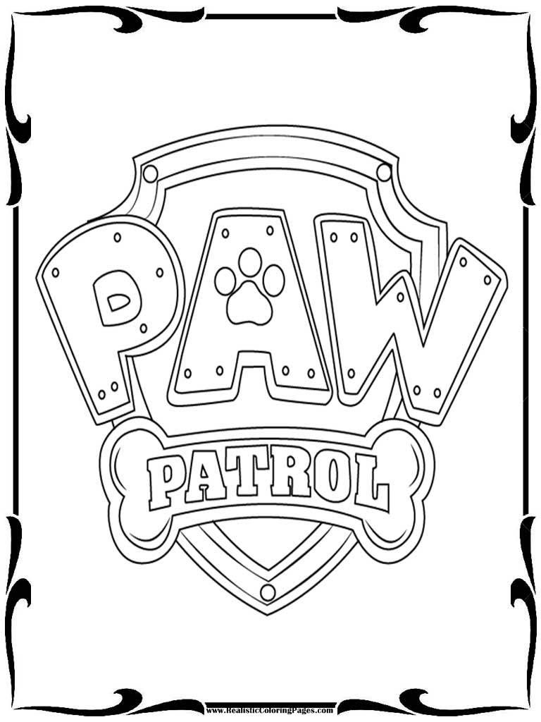 Paw Patrol Badges Coloring Pages