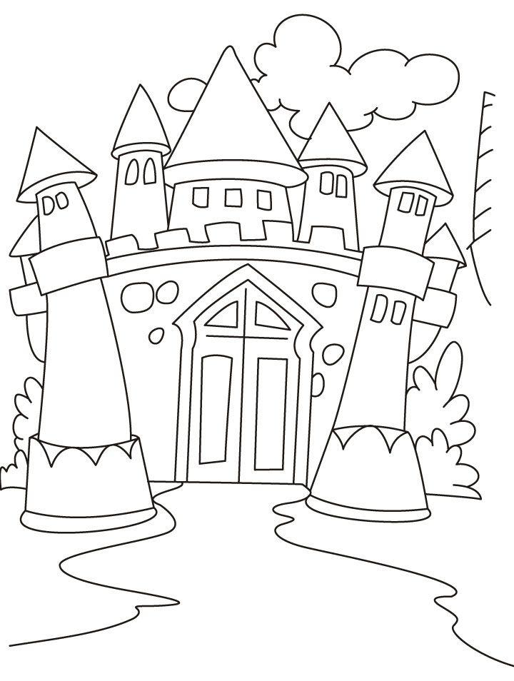 Fairy Tale Castle Coloring Page
