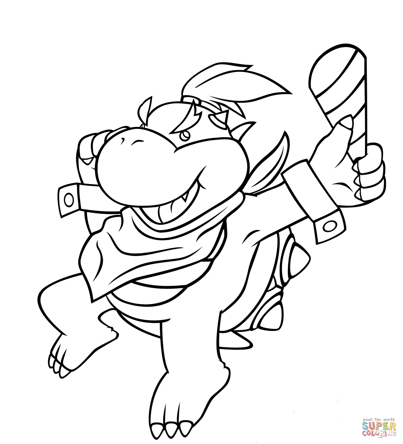 Bowser Jr. coloring page | Free Printable Coloring Pages