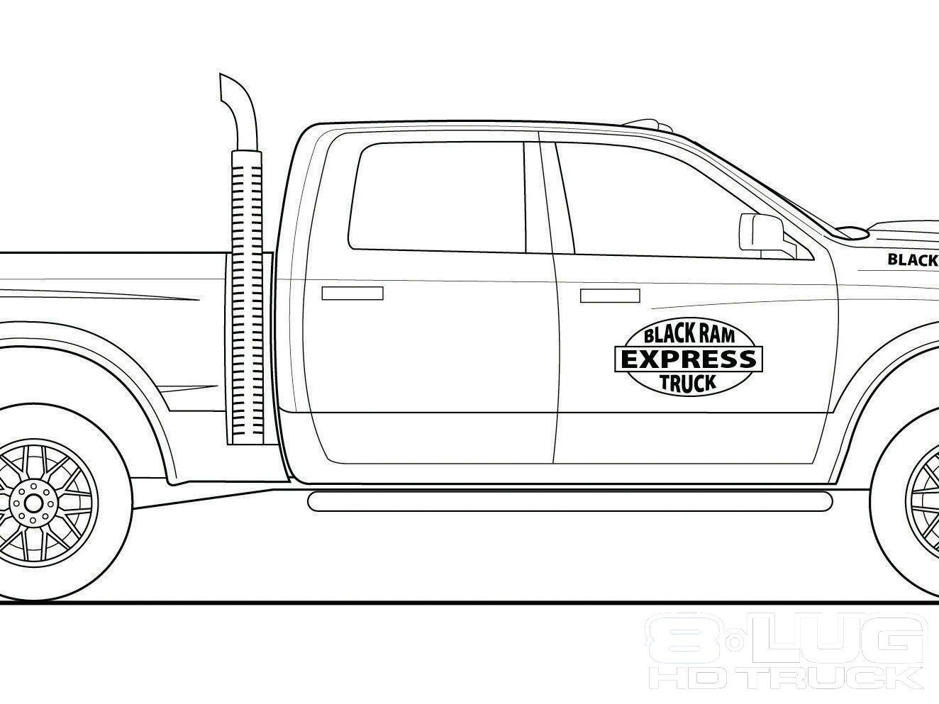 Dodge Ram Coloring Pages Related Keywords & Suggestions ...