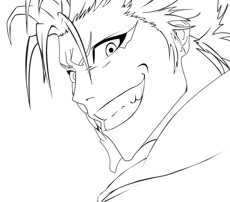 Line Art How To : Bleach grimmjow coloring pages az