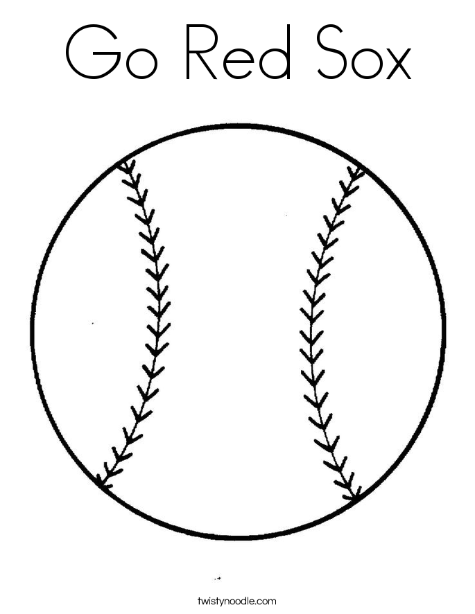Red Soxs Coloring Pages To Print And Color - Coloring Home