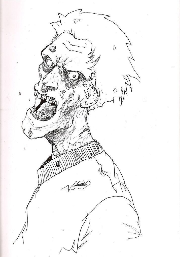 Free Printable Zombie Coloring Pages - Coloring Home