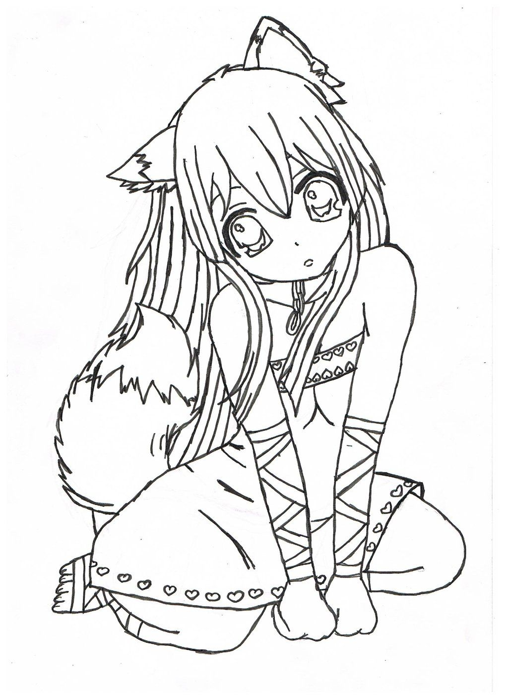 Print Anime Coloring Pages Coloring