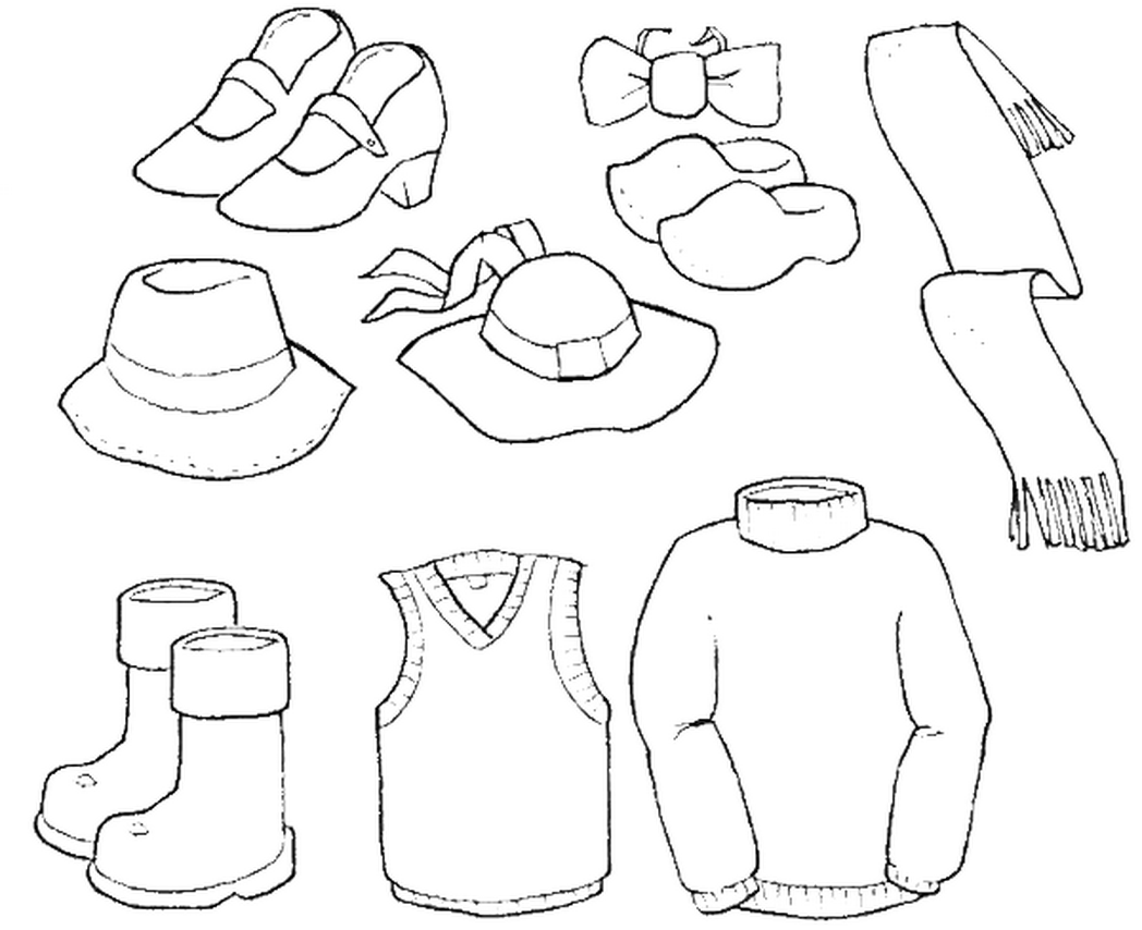 coloring pages with clothes - photo#17