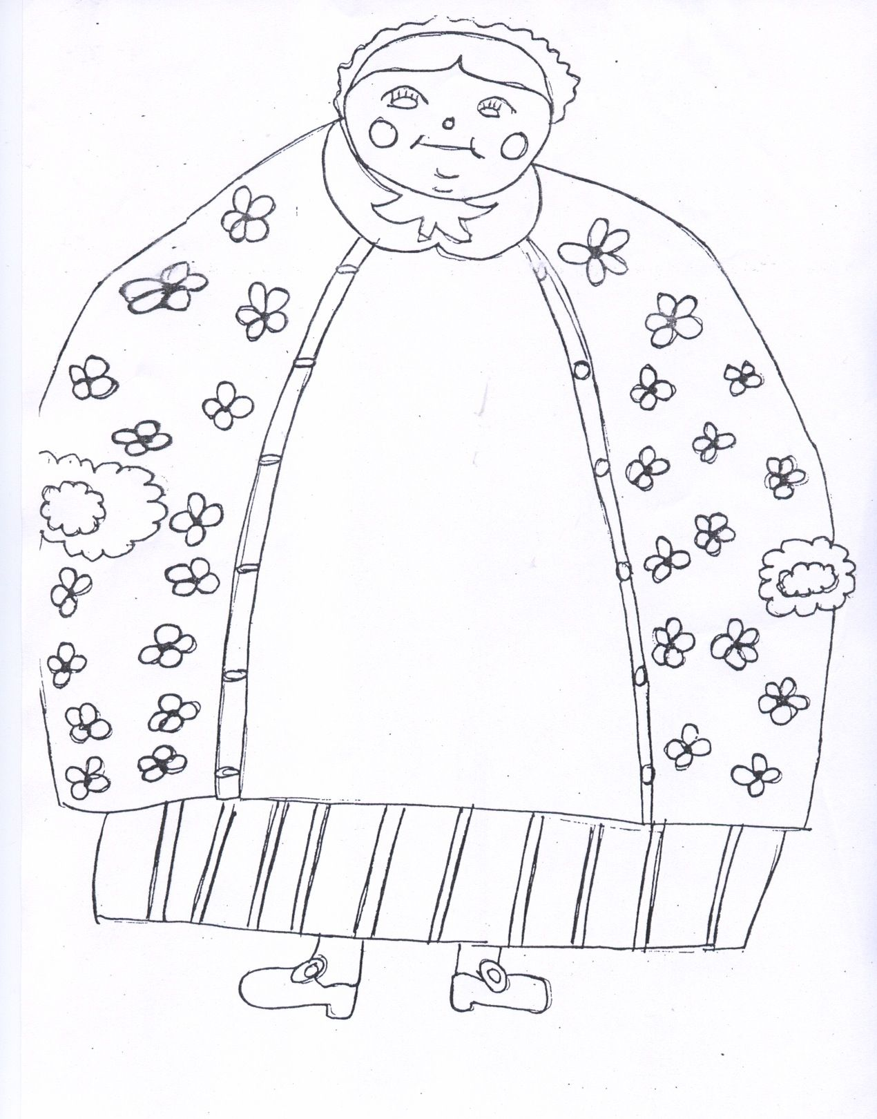 coloring pages downloadable old woman who swallowed a fly
