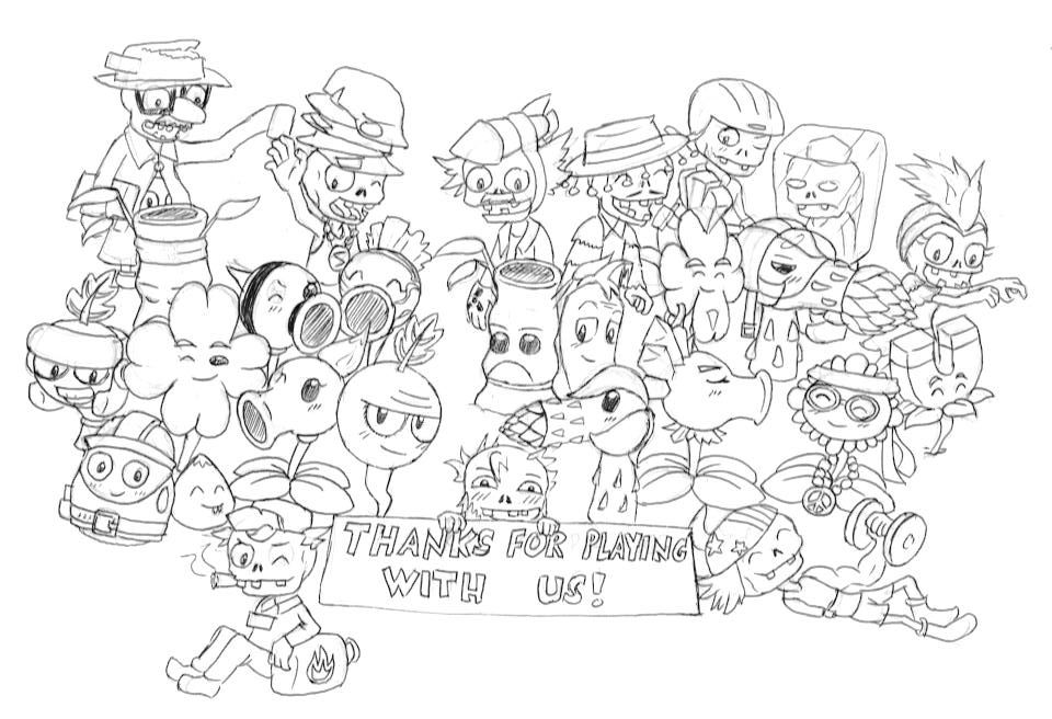 pvz garden warfare coloring pages - photo#1