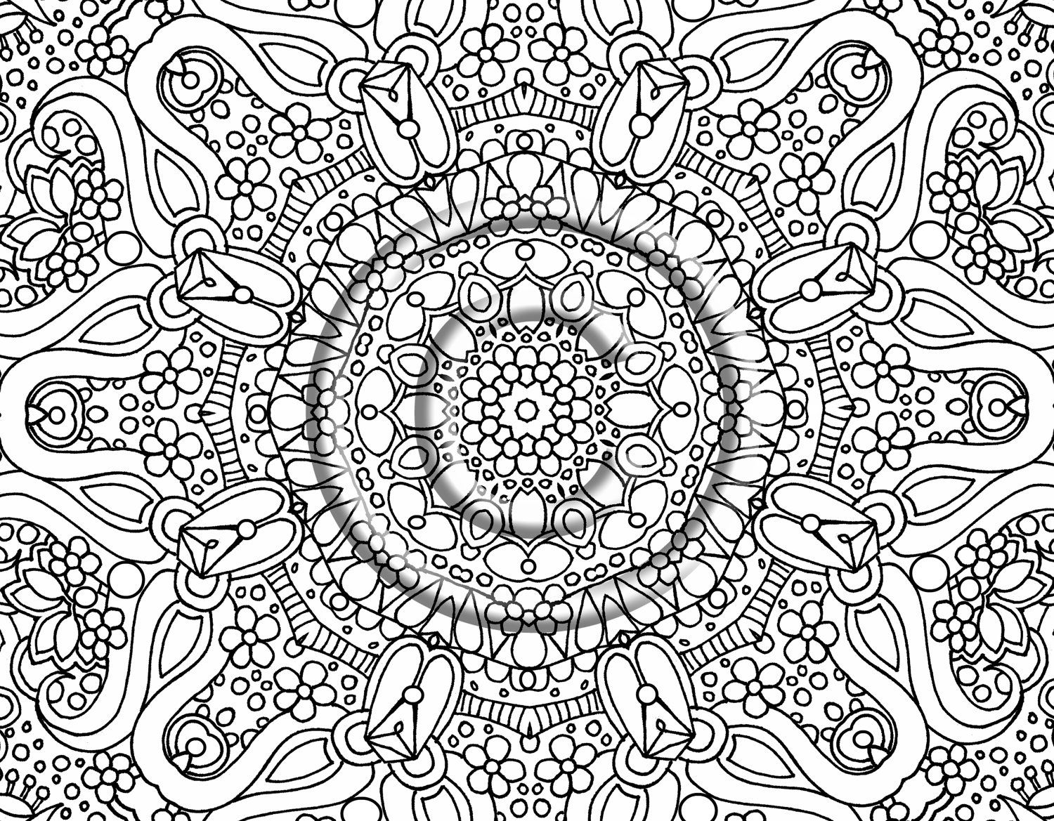 Coloring pages for adults abstract flowers - Abstract Coloring Pages Only Coloring Pages Coloring Pages For Adults Abstract Flowers