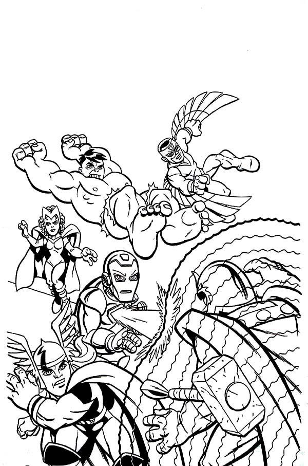 Best Super Hero Squad Coloring Pages - Coloring Pages For All Ages