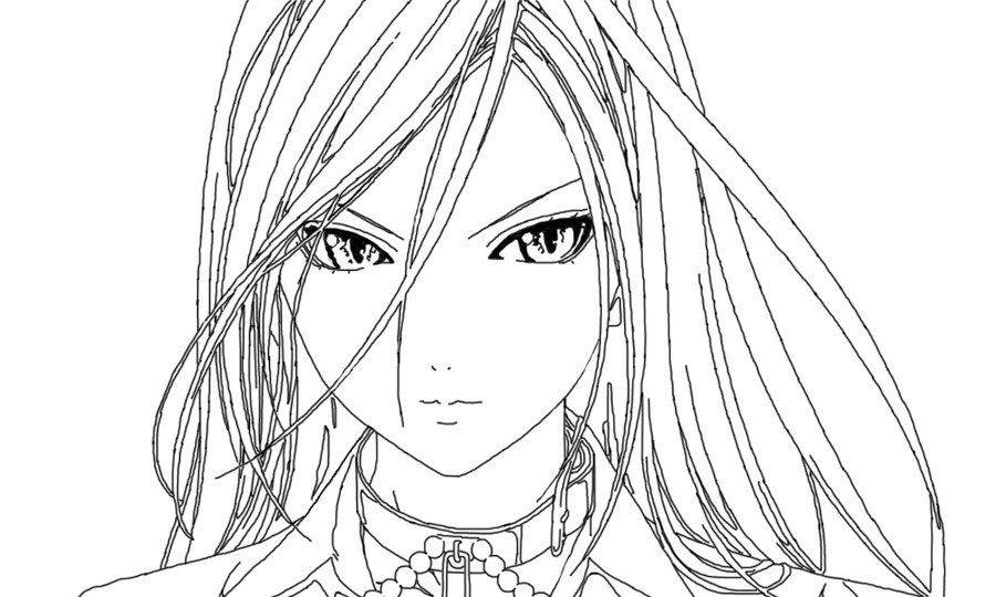 vampire anime coloring pages - photo#16