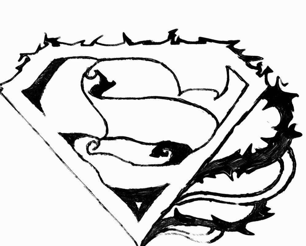 Flash symbol coloring page az coloring pages for Coloring pages of superman logo