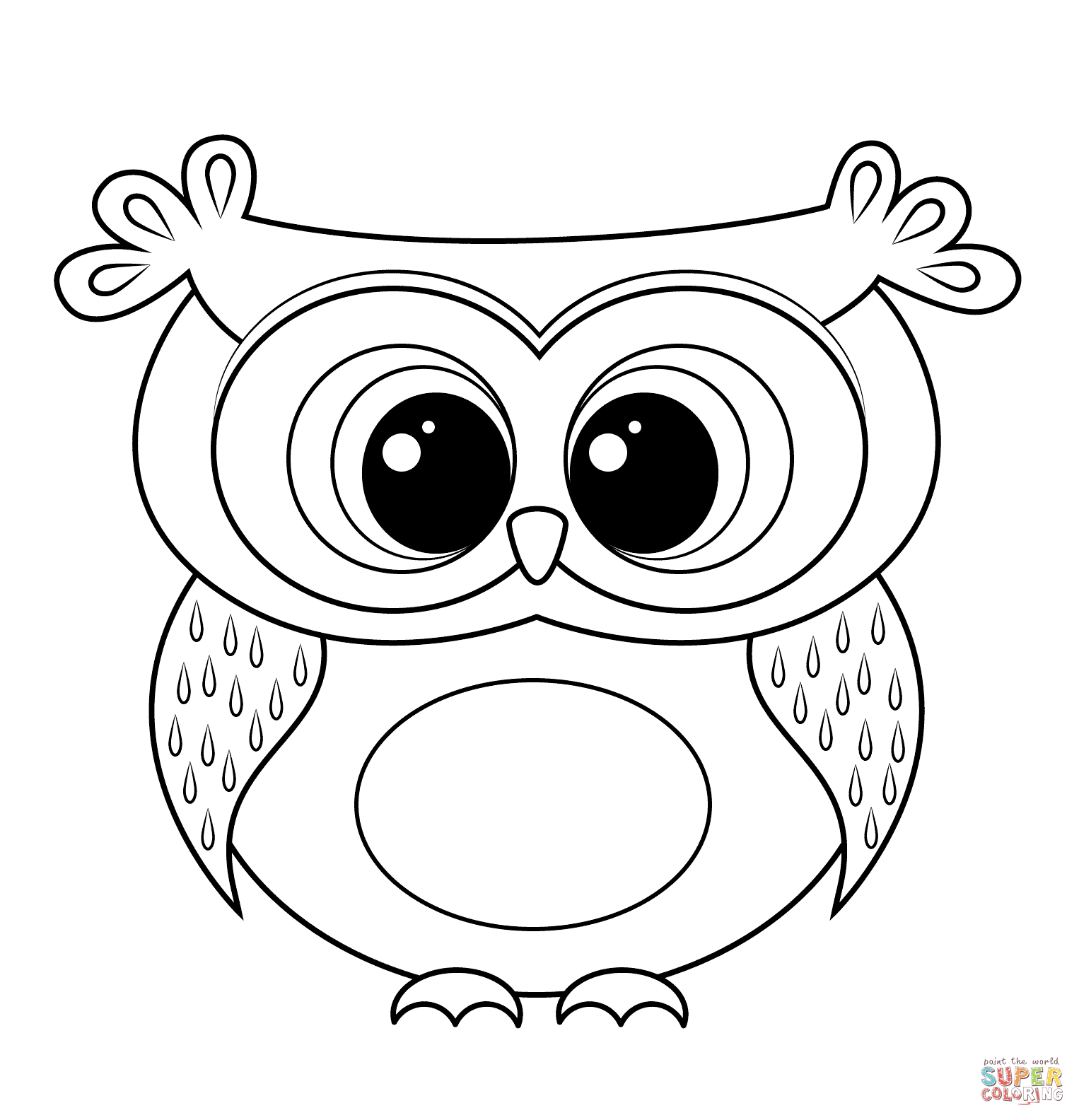 cartoon owls coloring pages - photo#11