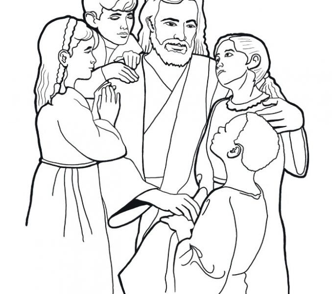 Free Coloring Book Jesus And The Children Coloring Page Fresh At -  Coloring Home