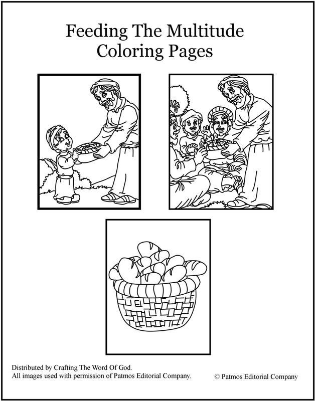 Coloring Pages For Jesus Feeding The 5000 : Jesus feeds coloring page home