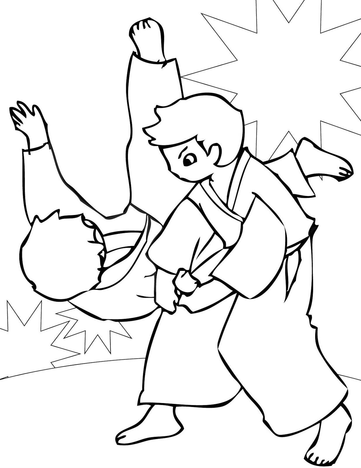 karate coloring pages free - judo coloring pages coloring home