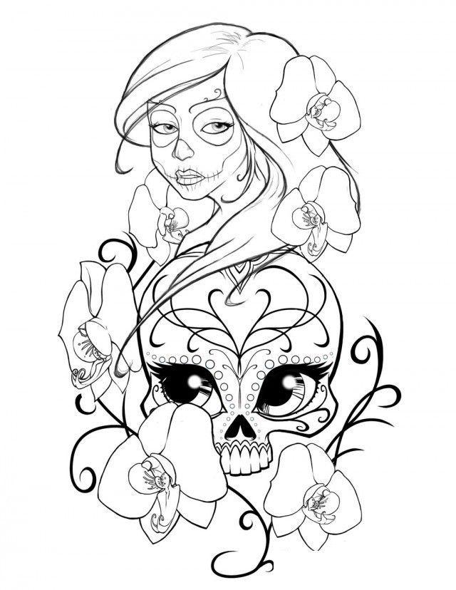 Free Adult Coloring Pages Sugar Skull Az Coloring Pages