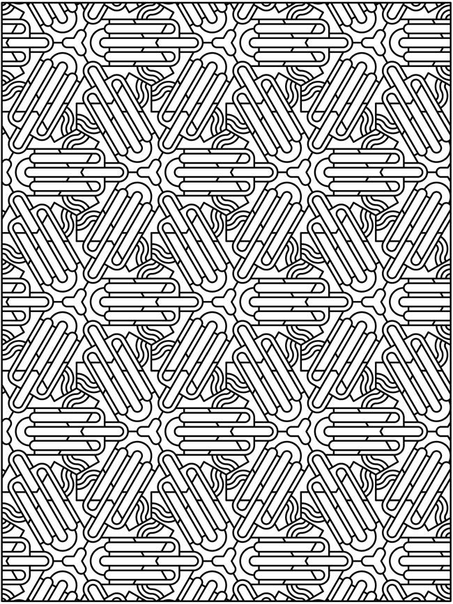 Free Tessellations Coloring Pages