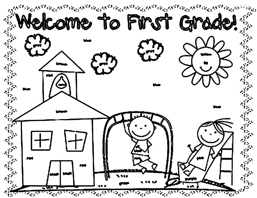 Coloring Page 1st Grade : Coloring Pages For First Graders AZ Coloring Pages