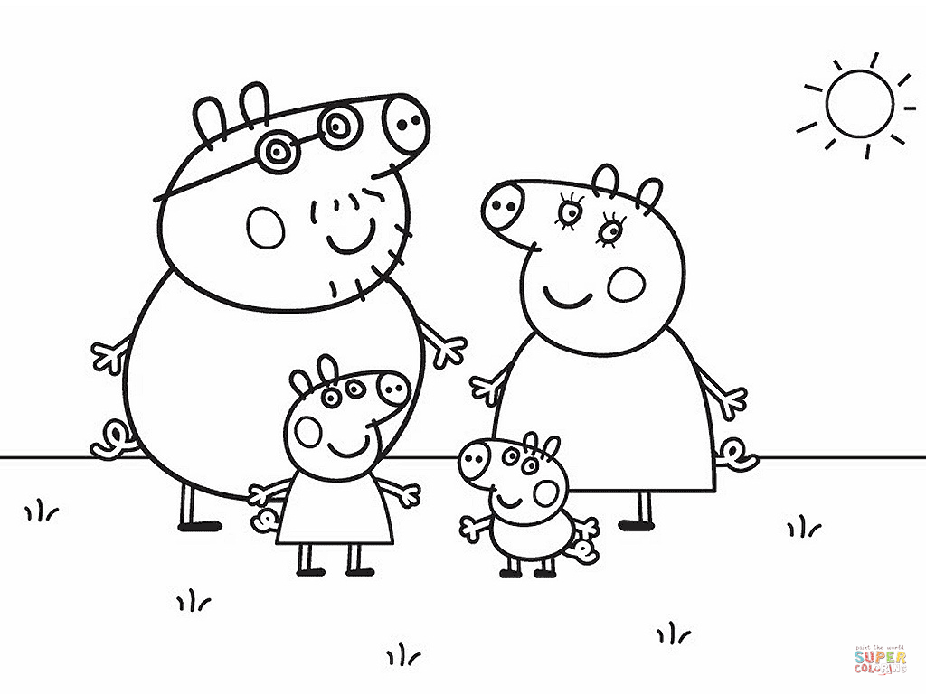 Peppa Pig coloring page | Free Printable Coloring Pages
