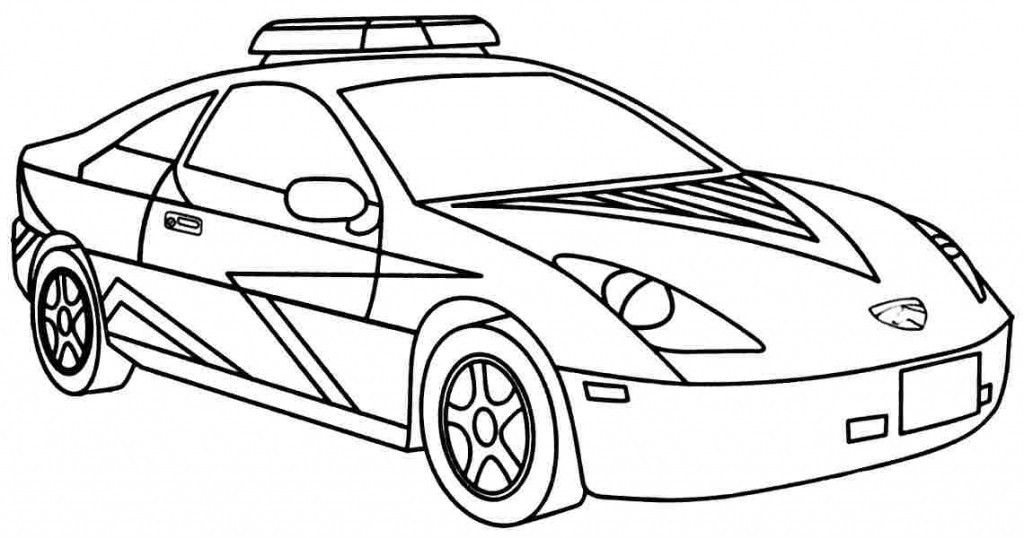 Police Car Coloring Pages Print Home