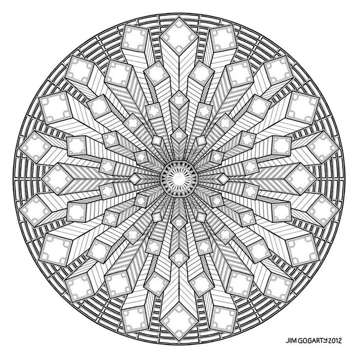 difficult mandala coloring pages - photo#9