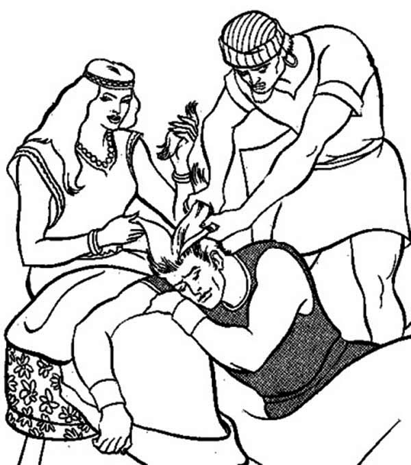 samson and delilah coloring page - Samson Delilah Coloring Pages