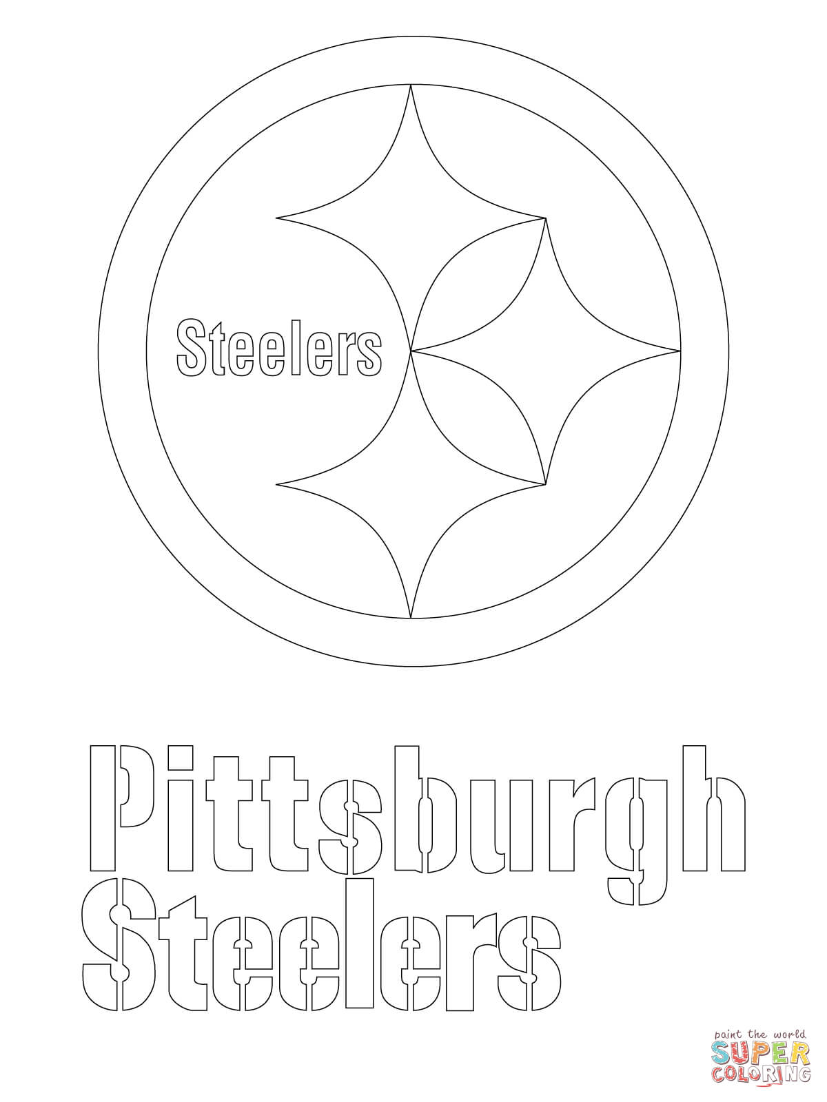 steelers free coloring pages - photo#2