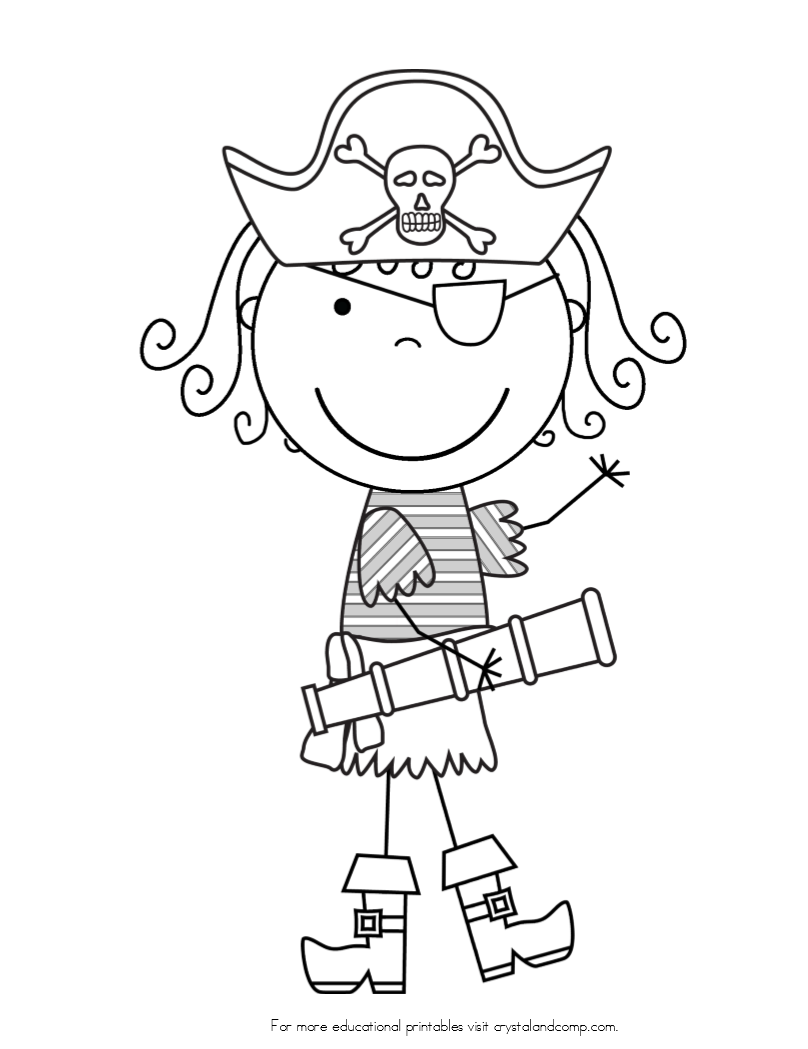 Girl Pirate Coloring Page Coloring Home