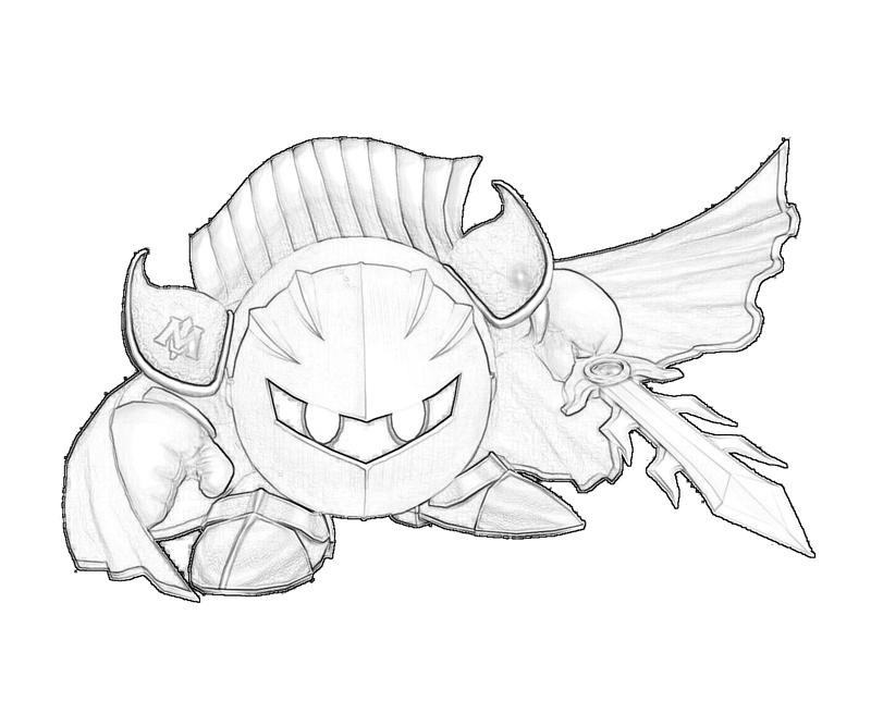Meta Knight Coloring Pages To Print - Coloring Home