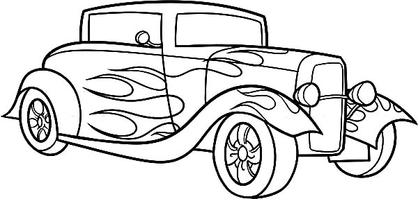 hotrod coloring pages - photo#30