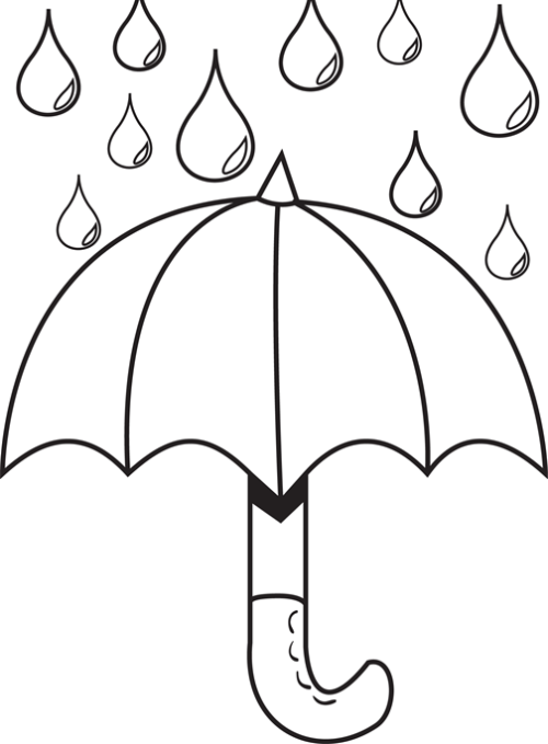 raindrops coloring pages for toddlers - photo#7