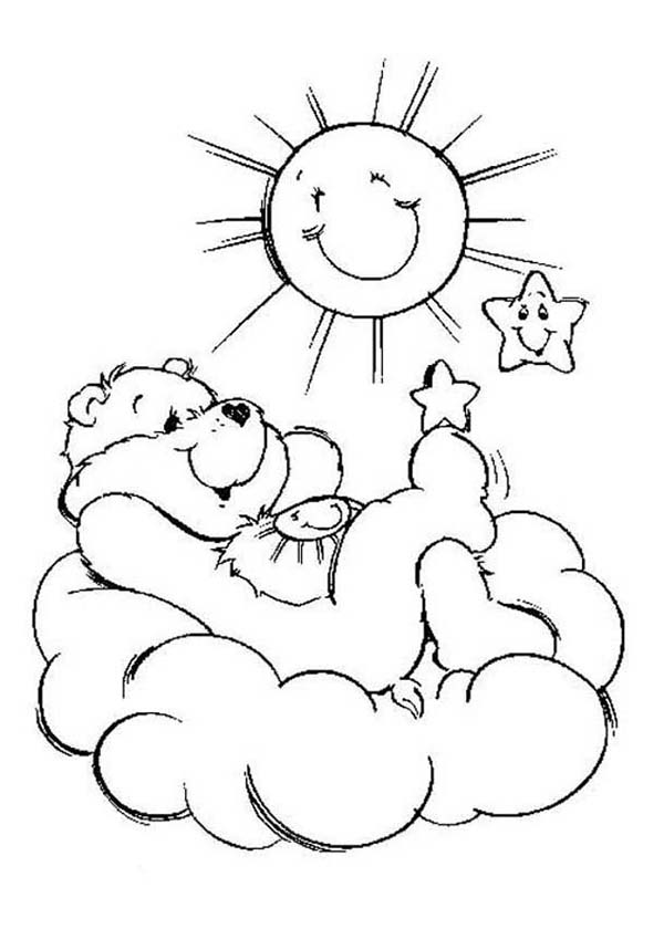 funshine cear coloring pages - photo#8