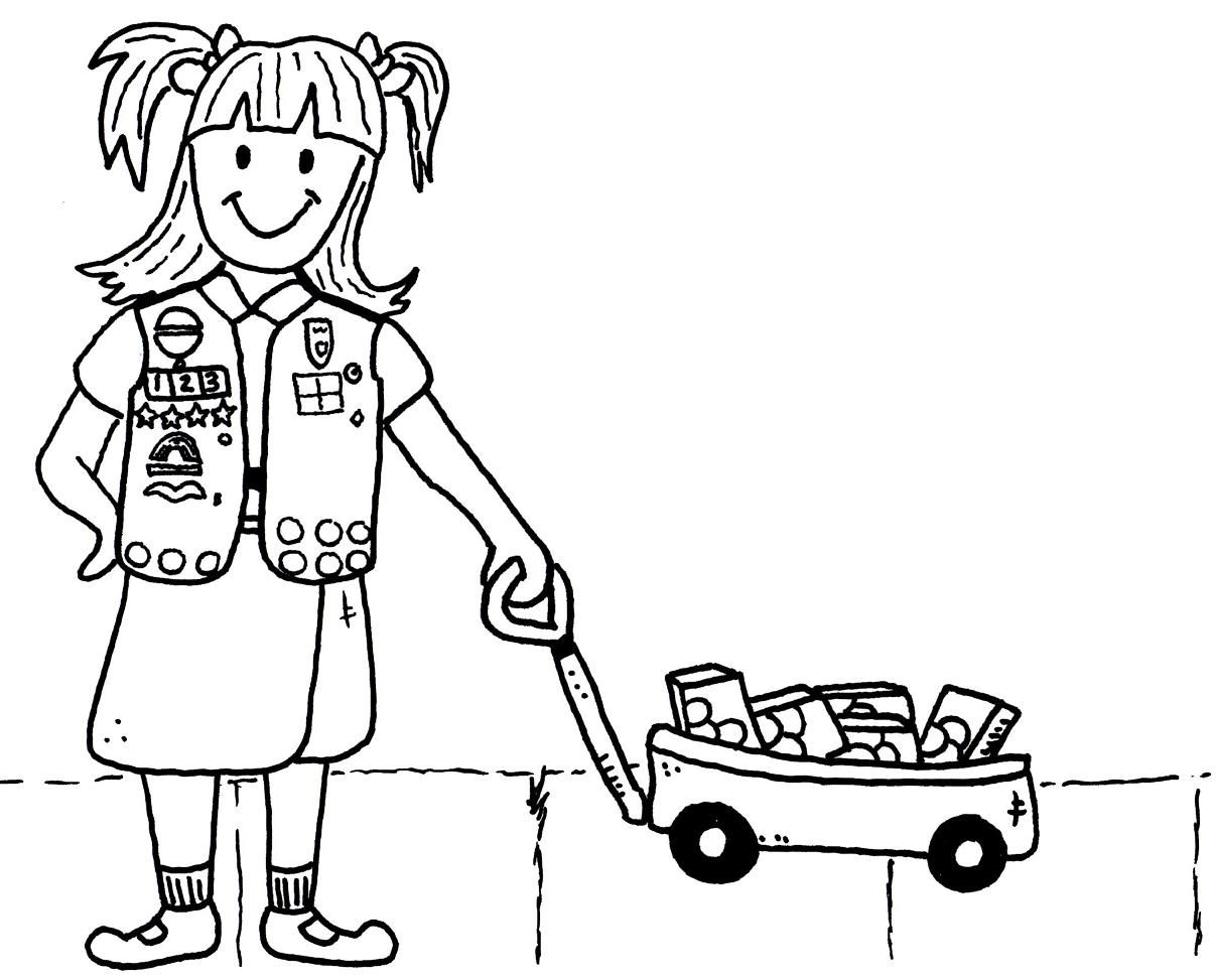 Printable Girl Scout - Coloring Pages for Kids and for Adults