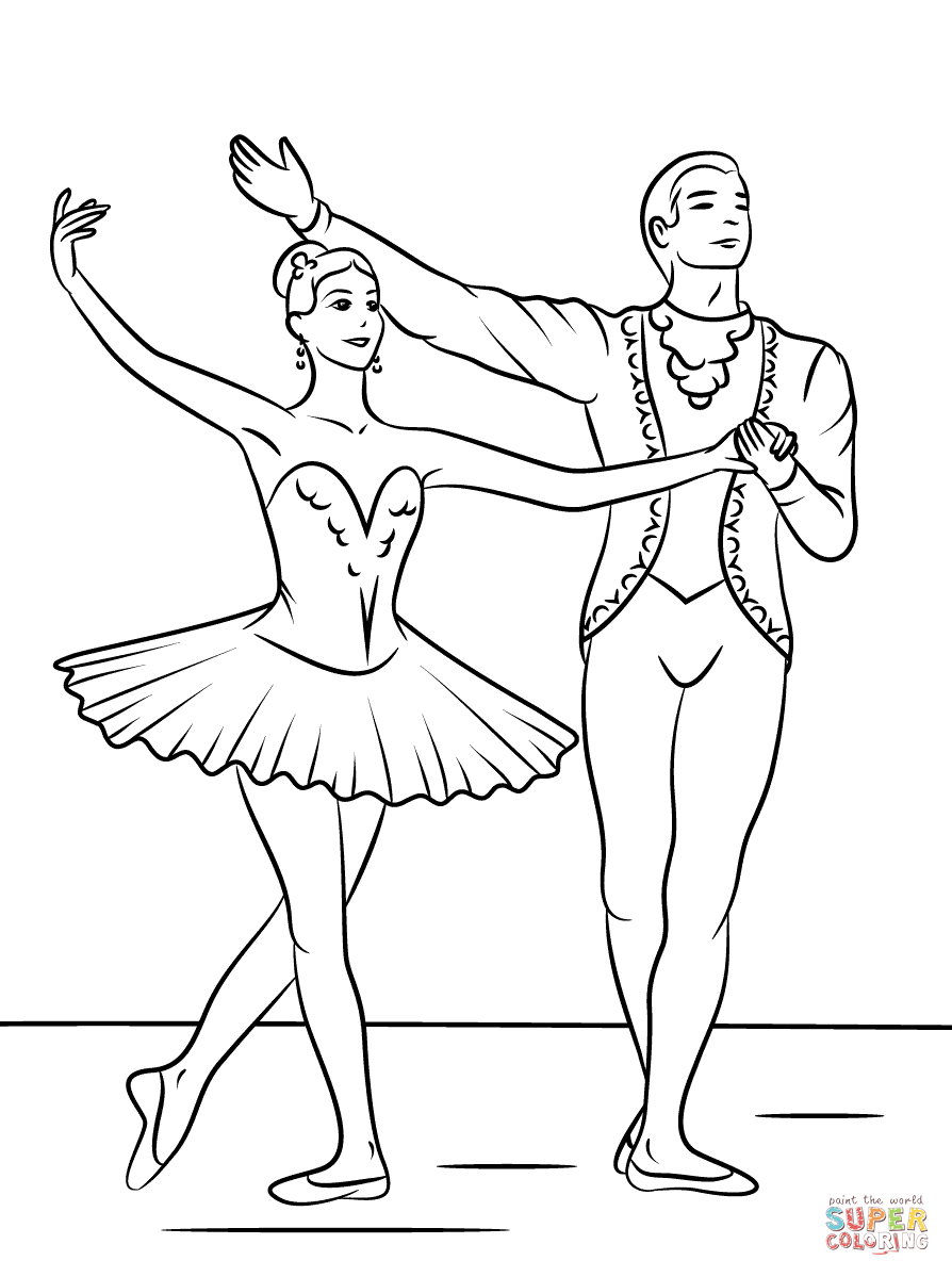 sleeping beauty ballet coloring page free printable coloring pages - Ballerina Coloring Pages Print