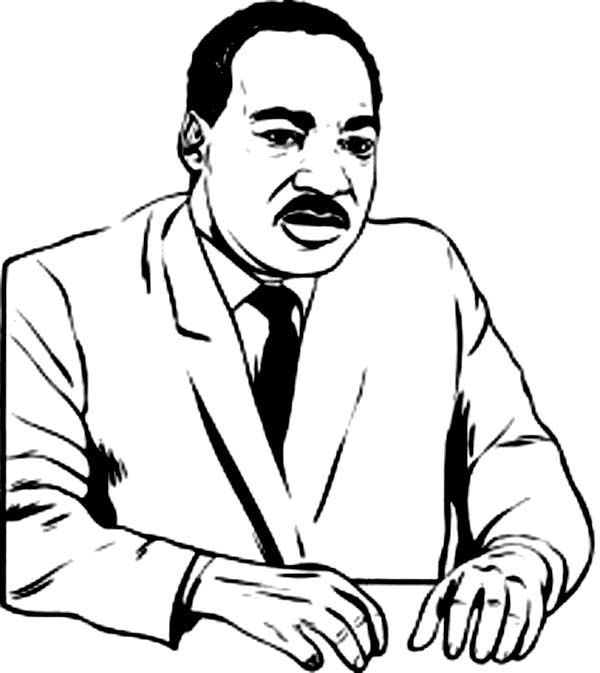 picture regarding Martin Luther King Coloring Sheets Printable known as Martin Luther King Jr Coloring Web pages For Youngsters - Coloring Dwelling