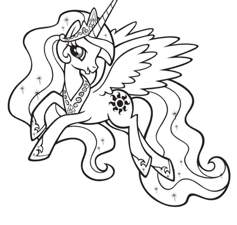 My little pony coloring pages of rarity - My Little Pony Friendship Is Magic Printable Coloring Pages